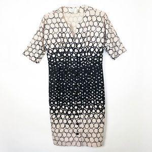 Byron Lars Beauty Mark Button Front Dress Size 10